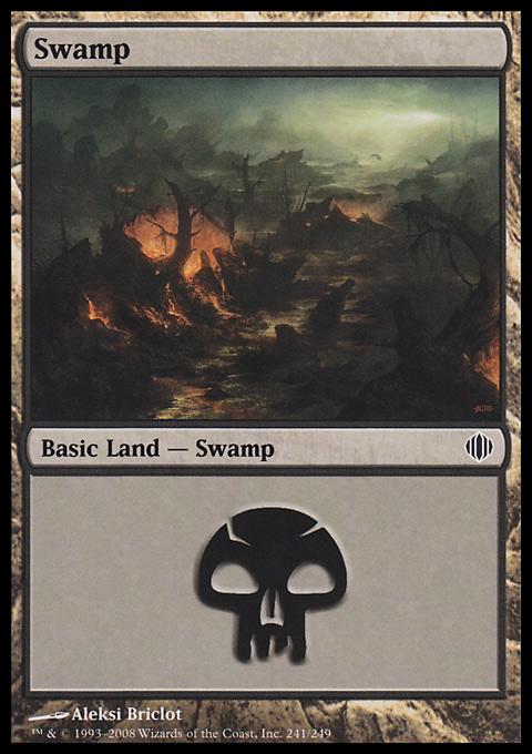 Swamp (241)  card from Shards of Alara