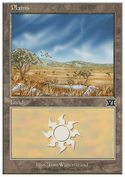 Plains (331)  card from Classic Sixth Edition