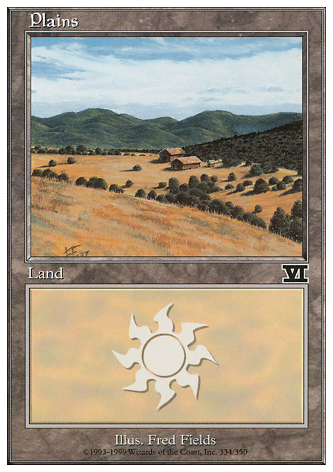 Plains (334)  card from Classic Sixth Edition