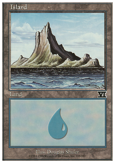Island (335)  card from Classic Sixth Edition