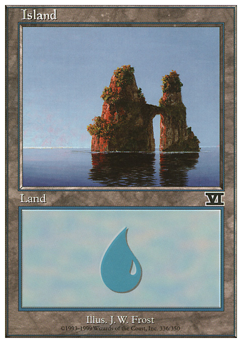 Island (336)  card from Classic Sixth Edition