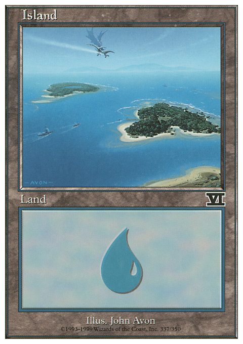 Island (337)  card from Classic Sixth Edition