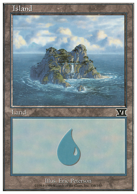 Island (338)  card from Classic Sixth Edition