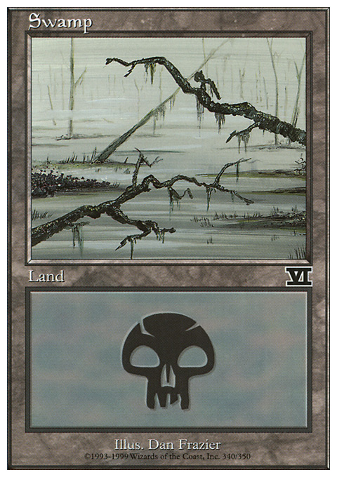 Swamp (340)  card from Classic Sixth Edition