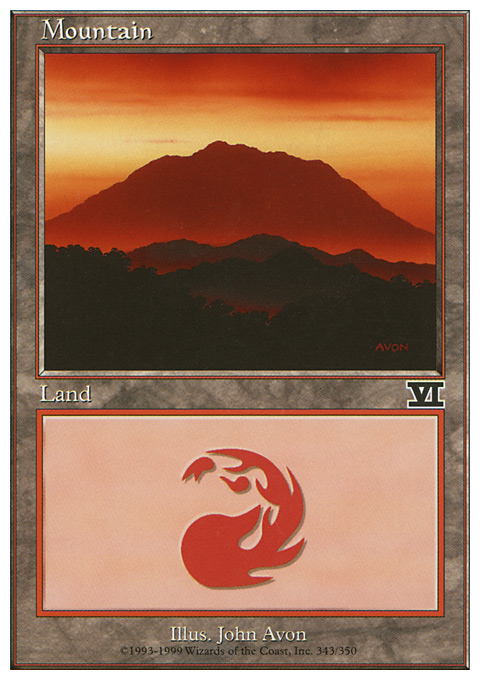 Mountain (343)  card from Classic Sixth Edition