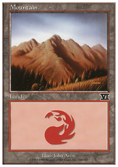Mountain (344)  card from Classic Sixth Edition
