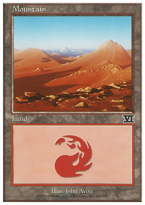 Mountain (345)  card from Classic Sixth Edition