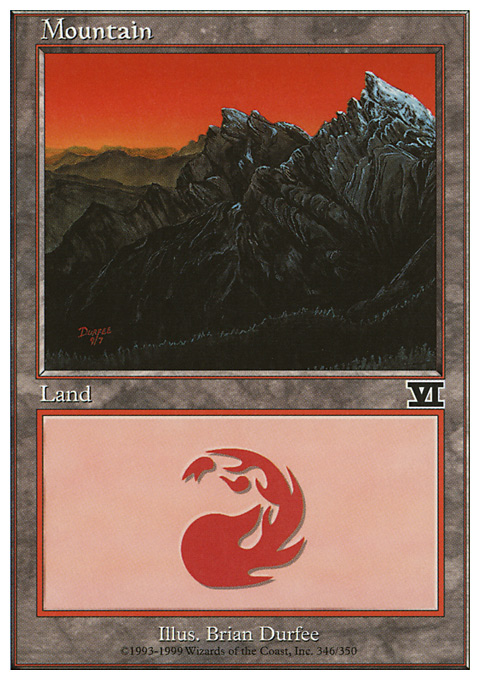 Mountain (346)  card from Classic Sixth Edition