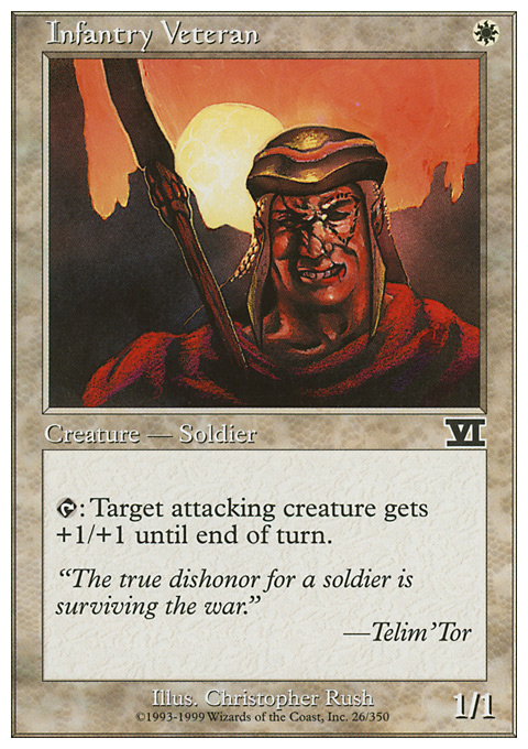 Infantry Veteran card from Classic Sixth Edition
