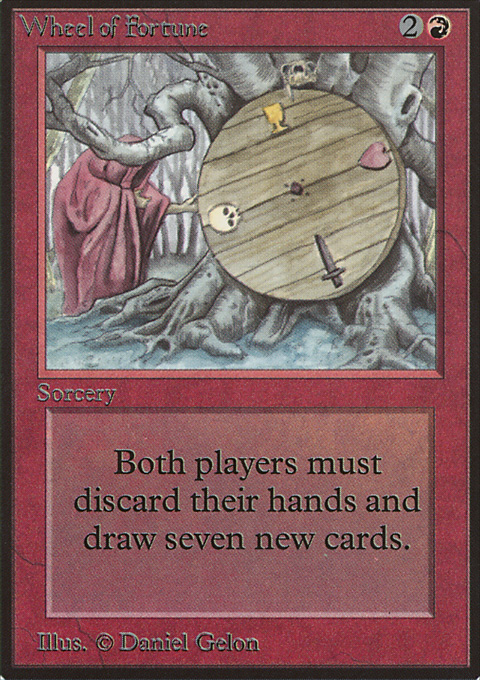 Wheel of Fortune card from Limited Edition Beta