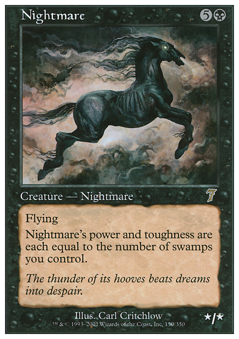 Nightmare card from Seventh Edition