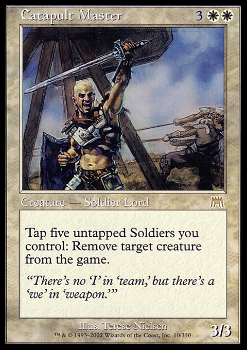 Catapult Master card from Onslaught