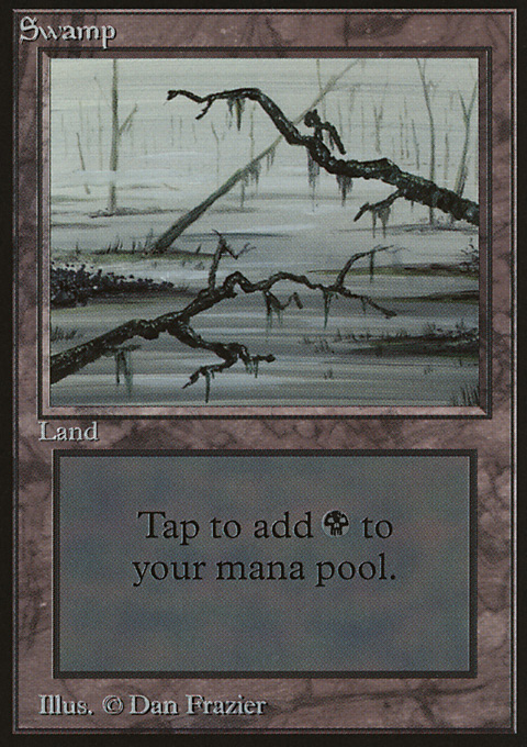 Swamp (C) card from Limited Edition Beta