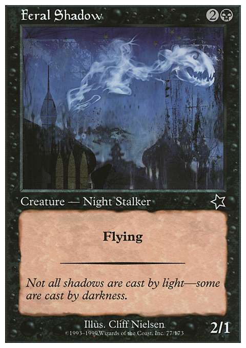 Feral Shadow card from Starter 1999