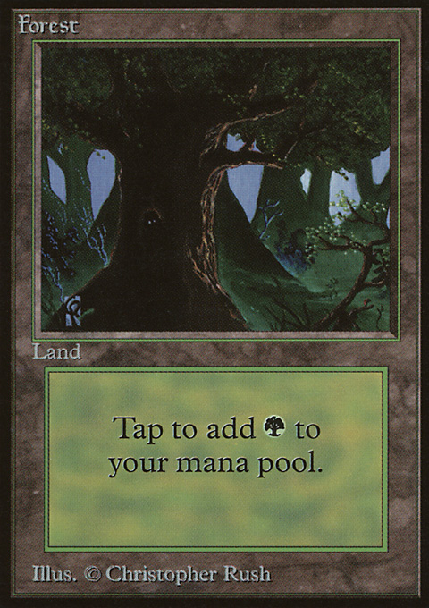Forest (C) card from Limited Edition Beta