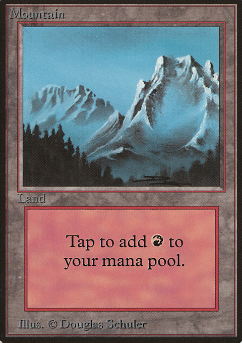 Mountain (B) card from Limited Edition Beta