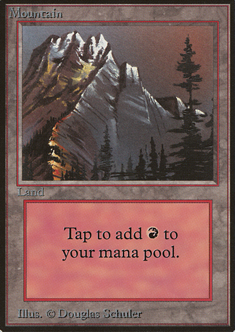 Mountain (A) card from Limited Edition Beta