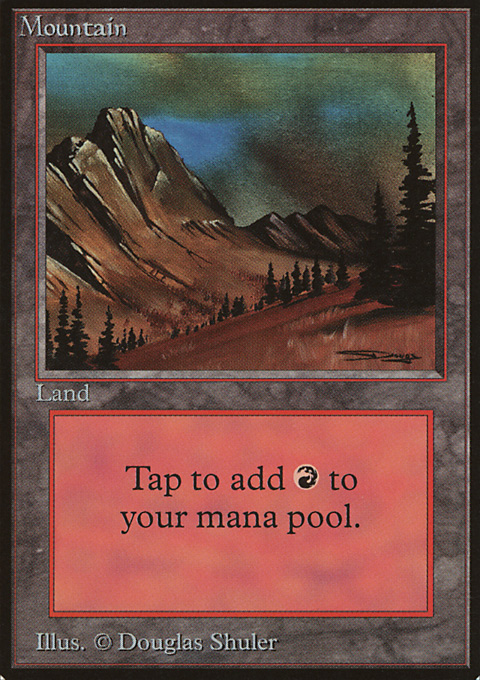 Mountain (C) card from Limited Edition Beta
