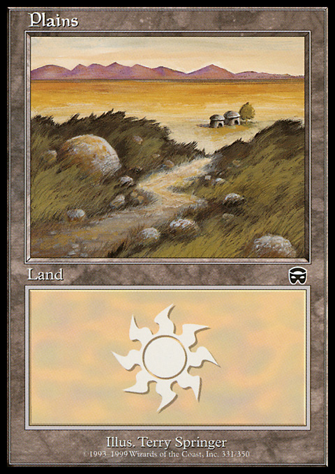 Plains (331) card from Mercadian Masques