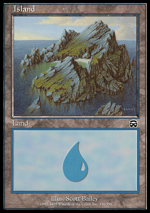 Island (336) card from Mercadian Masques