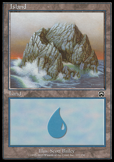 Island (337) card from Mercadian Masques