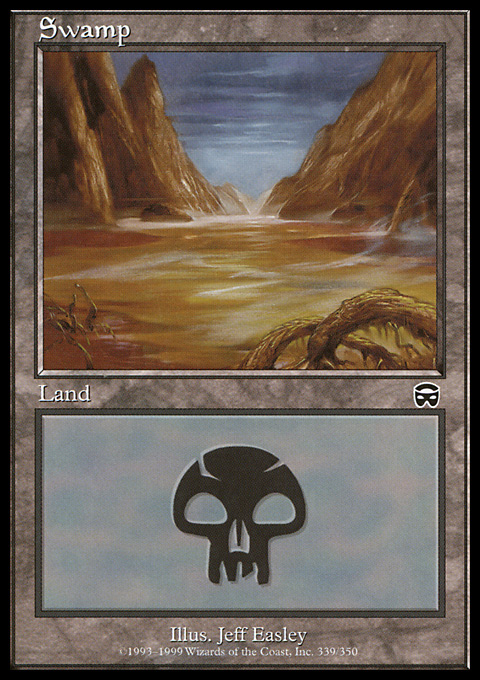 Swamp (339) card from Mercadian Masques
