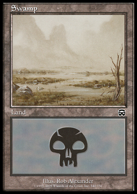 Swamp (340) card from Mercadian Masques