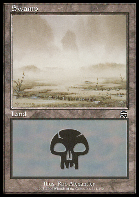 Swamp (341) card from Mercadian Masques