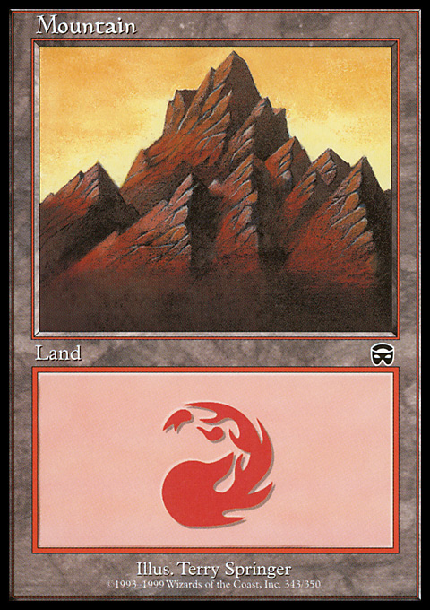 Mountain (343) card from Mercadian Masques