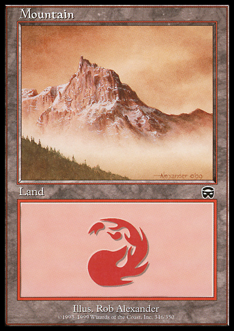 Mountain (346) card from Mercadian Masques