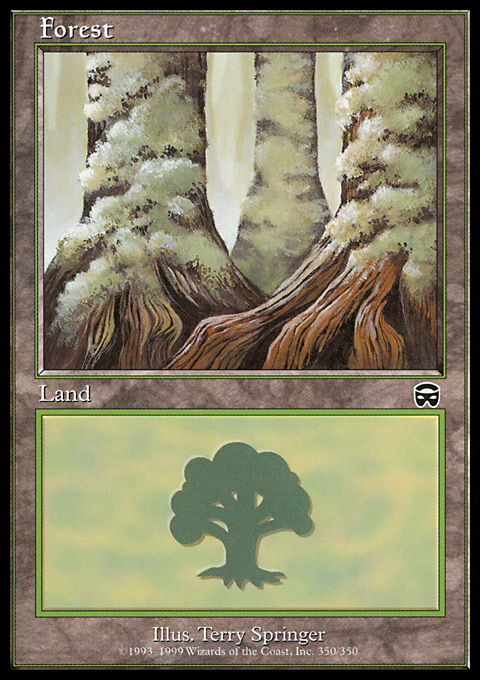 Forest (350) card from Mercadian Masques