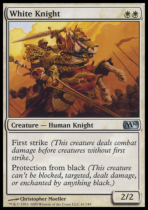 White Knight card from Magic 2010