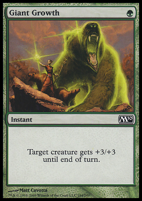 Giant Growth card from Magic 2010