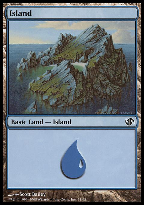Island (31)  card from Duel Decks: Jace vs. Chandra
