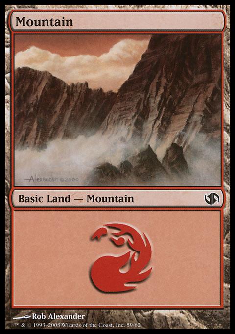 Mountain (59)  card from Duel Decks: Jace vs. Chandra