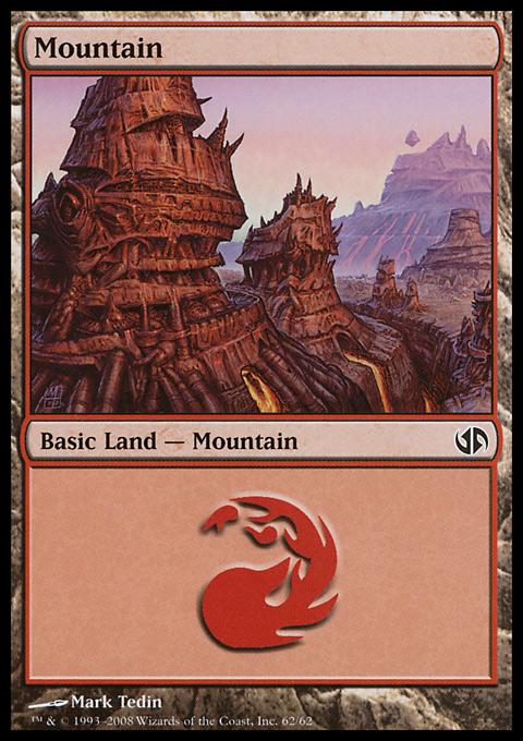 Mountain (62)  card from Duel Decks: Jace vs. Chandra