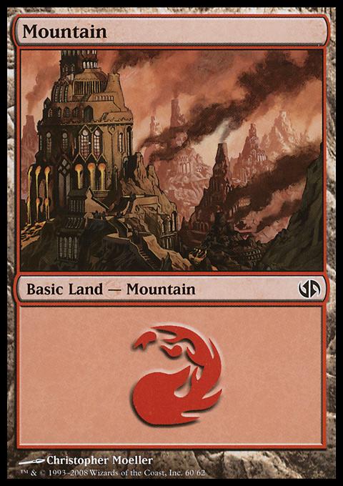 Mountain (60)  card from Duel Decks: Jace vs. Chandra