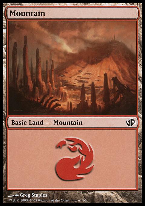 Mountain (61)  card from Duel Decks: Jace vs. Chandra