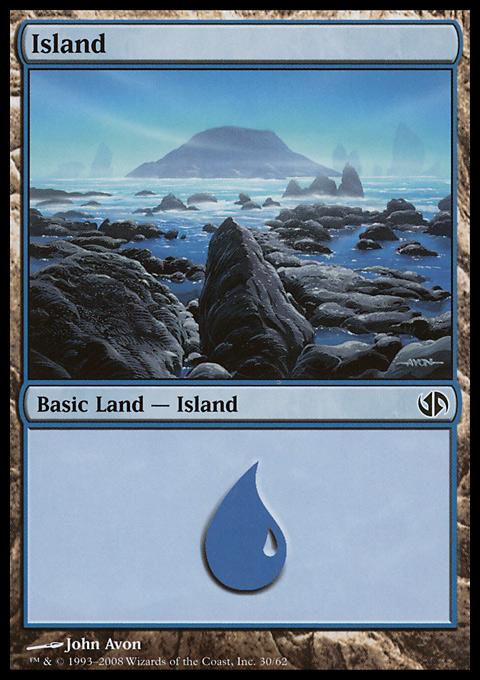 Island (30)  card from Duel Decks: Jace vs. Chandra