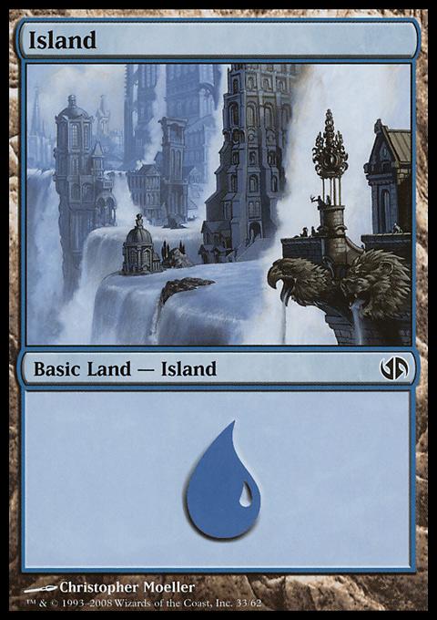 Island (33)  card from Duel Decks: Jace vs. Chandra
