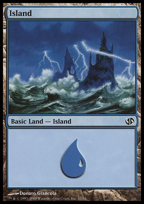 Island (32)  card from Duel Decks: Jace vs. Chandra