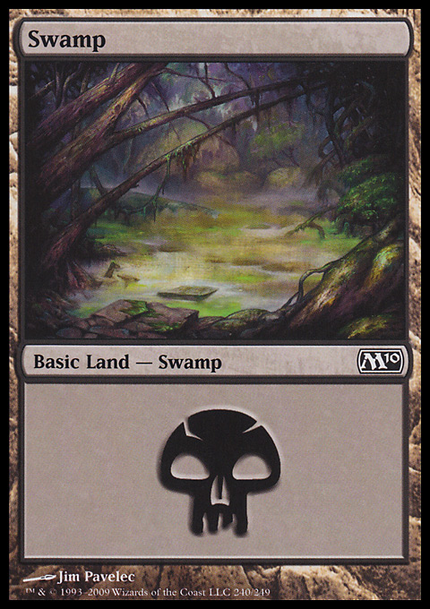 Swamp (240)  card from Magic 2010