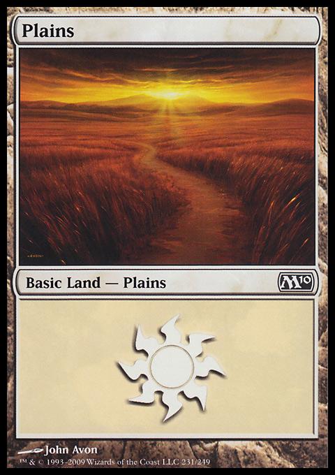 Plains (231)  card from Magic 2010