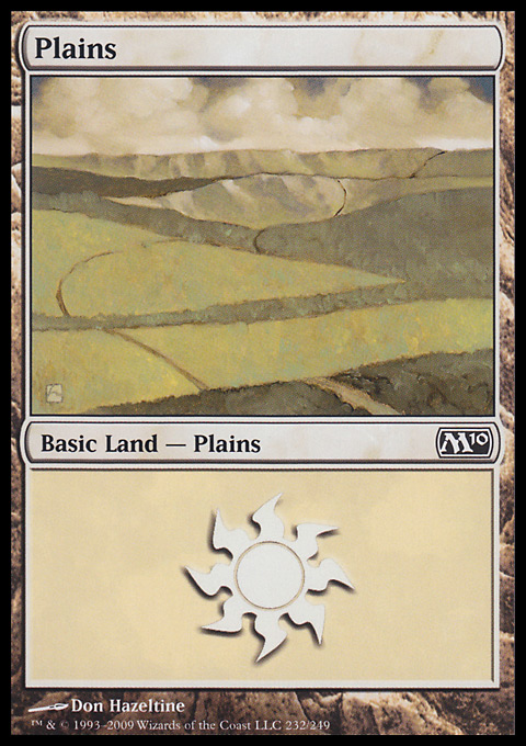 Plains (232)  card from Magic 2010