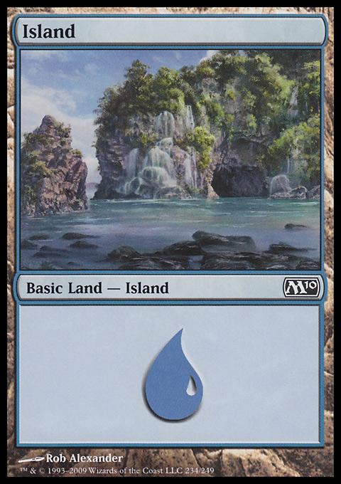 Island (234)  card from Magic 2010
