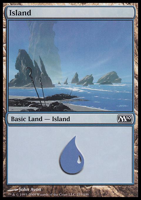 Island (235)  card from Magic 2010