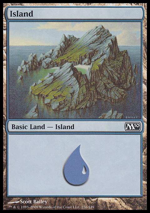 Island (236)  card from Magic 2010
