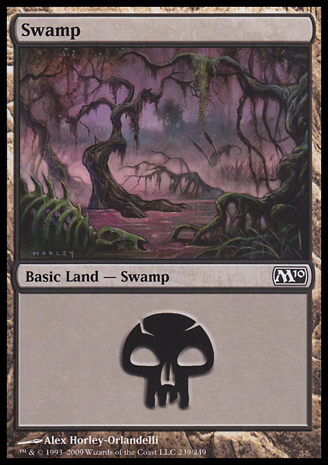 Swamp (239)  card from Magic 2010