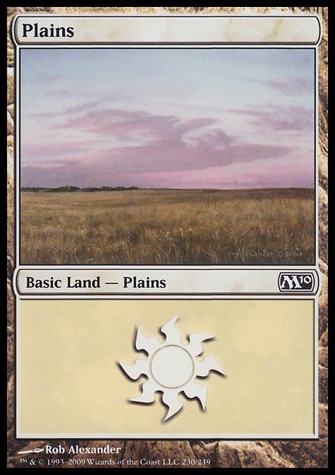 Plains (230)  card from Magic 2010