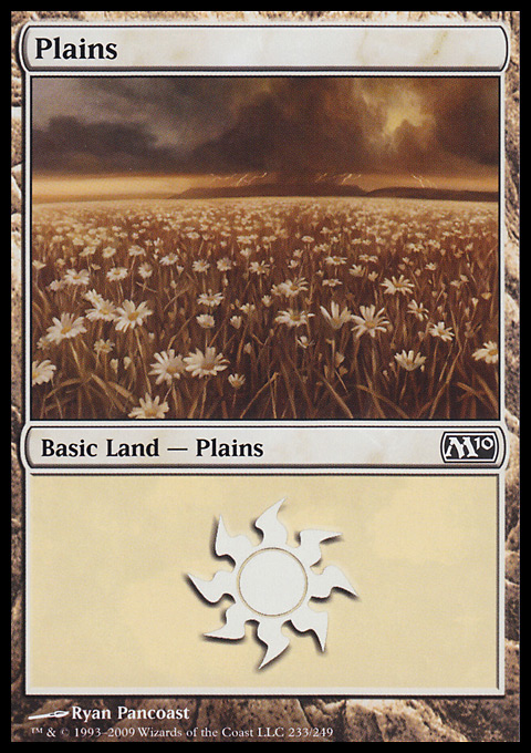 Plains (233)  card from Magic 2010